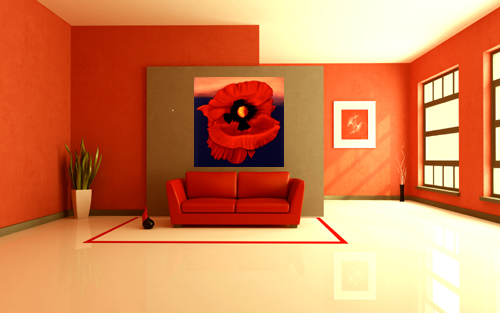 Desert Poppy by Anni Adkins with Room Setting