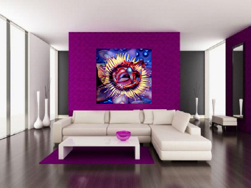 Passion Flower by Anni Adkins Room Setting