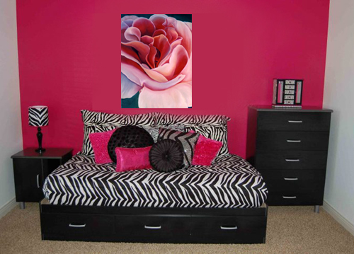 Peach Rose by Anni Adkins with Room Setting