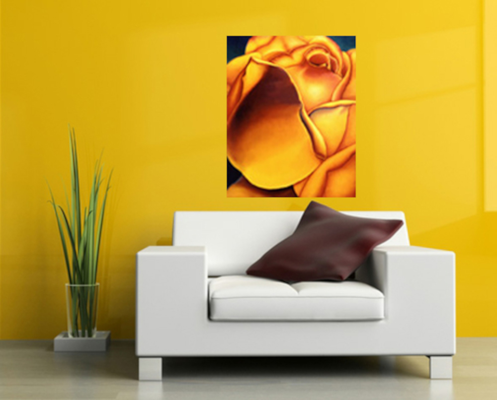 Yellow Rose by Anni Adkins Room Design