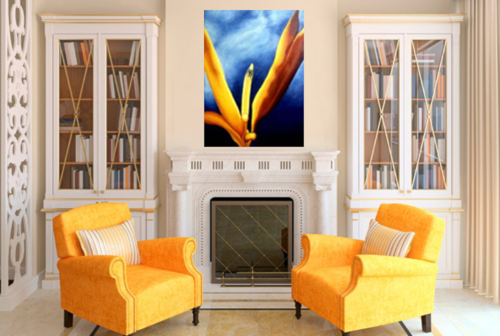 Bird of Paradise by Anni Adkins Room setting