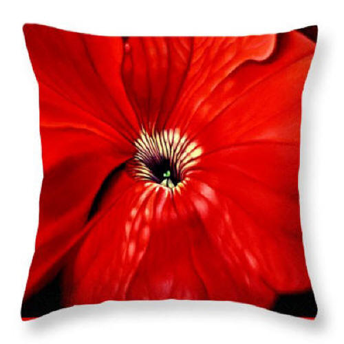 Petuna Pillow by Anni Adkins Pillow