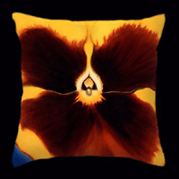 Yellow Pansy by Anni Adkins Pillow