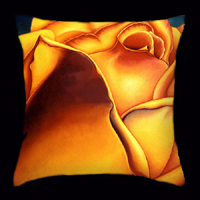 Yellow Rose by Anni Adkins Pillow