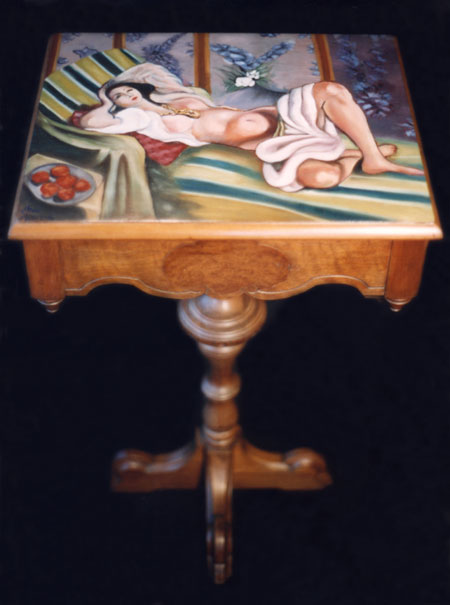 Reclining Nude Table by Anni Adkins