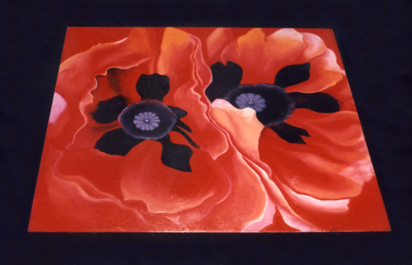 Double Red Poppy Table by Anni Adkins